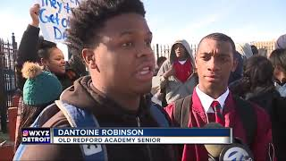 Detroit students walk out in protest of alleged teacher, principal firings