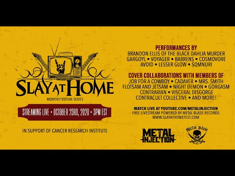 SLAY AT HOME Monthly (October)- FREE LIVESTREAM | Metal Injection