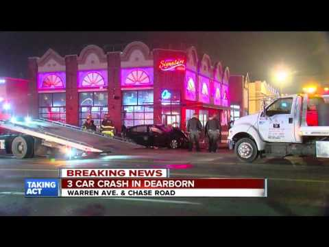 Three-car Crash In Front Of Hookah Lounge