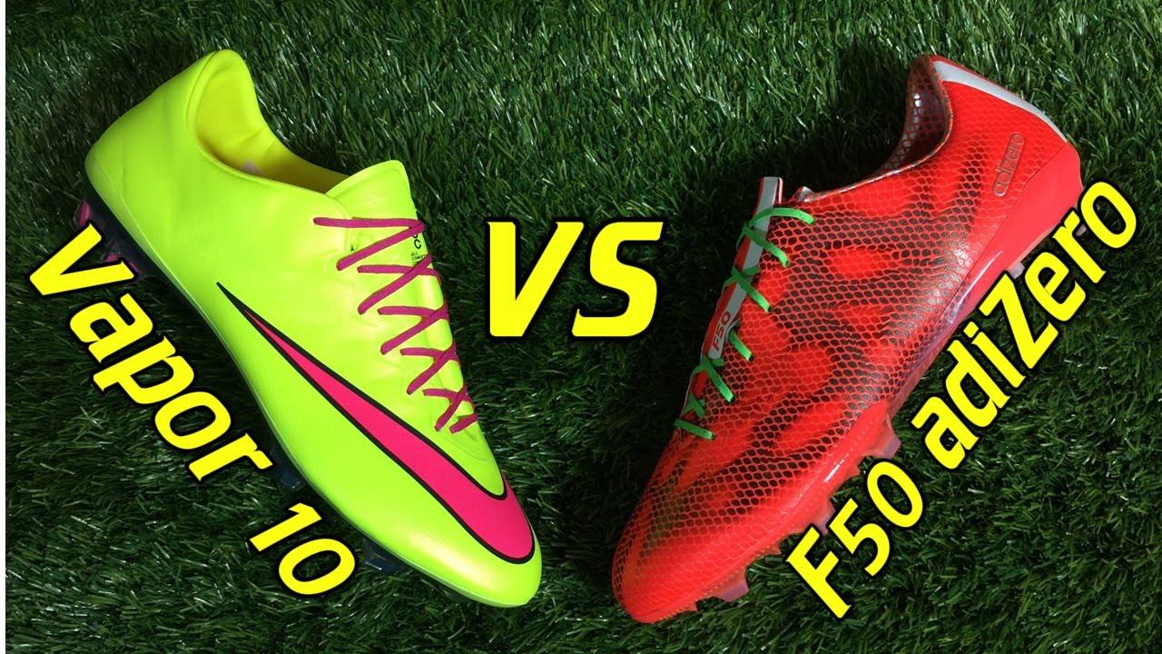 Nike Mercurial Vapor X vs adidas F50 adizero 2015 | Volky
