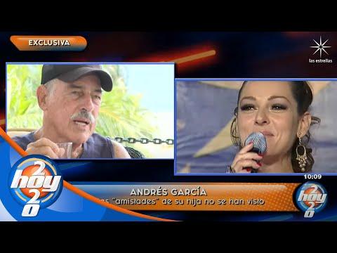 Andrés García confirma el distanciamiento de su hija Andrea y revela el motivo | Hoy