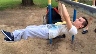 Street Workout | Front Lever World Record (1 Minute and 11 seconds)