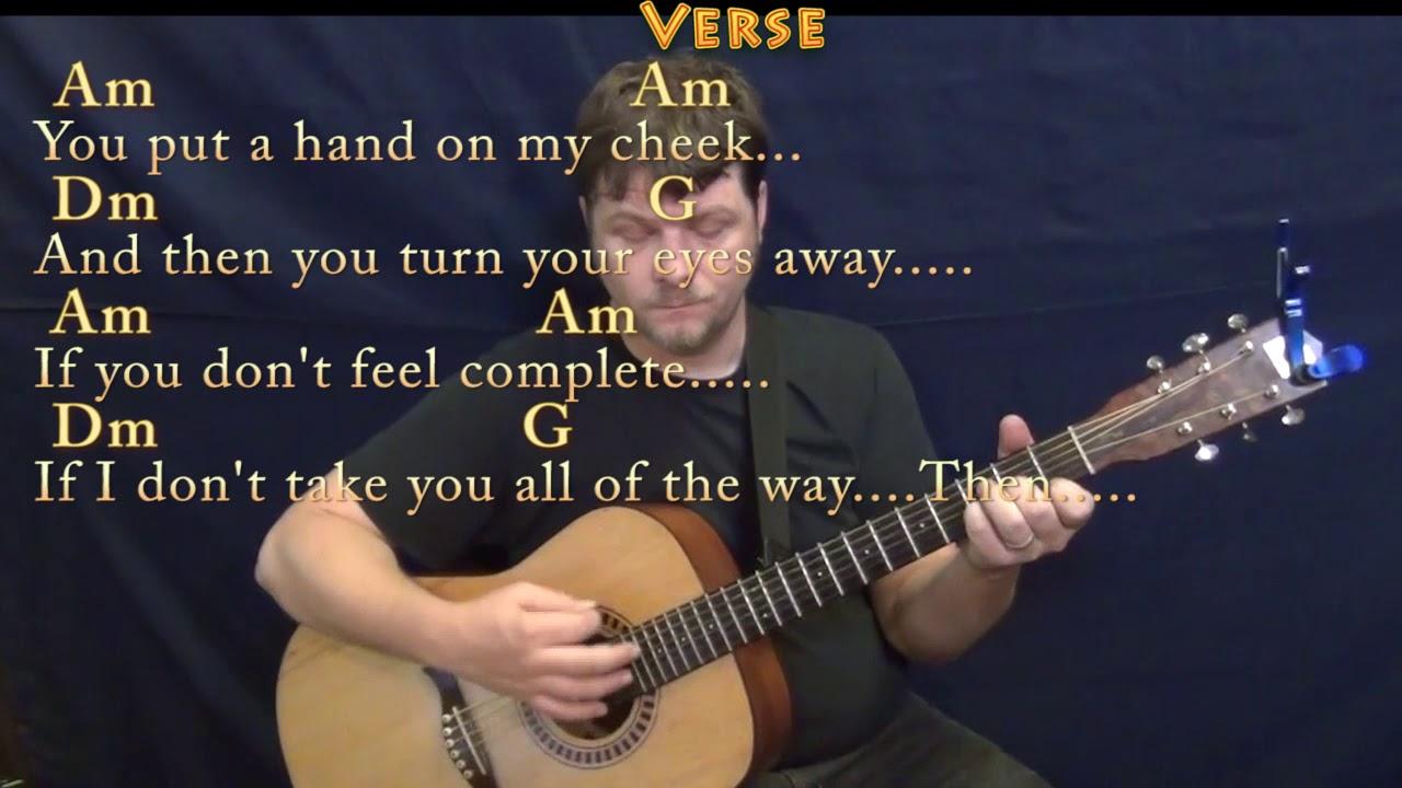 You Got Lucky Tom Petty Guitar Chord Chart with Chords/Lyrics On Screen