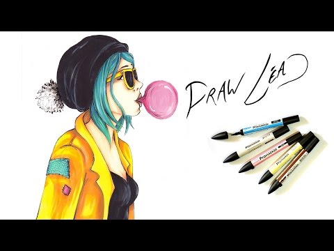Dessin feutres alcool PROMARKER - Chewing gum - Draw Léa