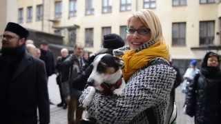 Muslimien, juutalaisten ja kristittyjen ystävyysmarssi Helsingissä 5.3.2015