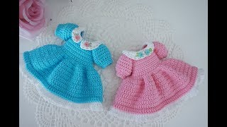 How to crochet pretty dress / Blythe clothes / doll outfit