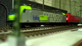Europe Rail  Modelleisenbahn HO BLS- Cargo Re485 Neu-Euro E-Lok    Basel DB