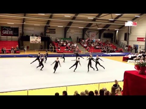 GymHelsinge TeamGym Juniorpiger 2 Rytme Forbundsmesterskabet Helsinge Maj 2016