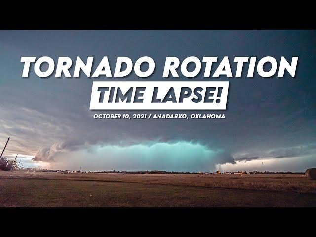 TORNADO ROTATION Time Lapse! (4K) / October 10, 2021 / Anadarko, Oklahoma