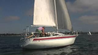 1976 Yamaha MKII 25 foot Sailboat Sailing Mission Bay, San Diego