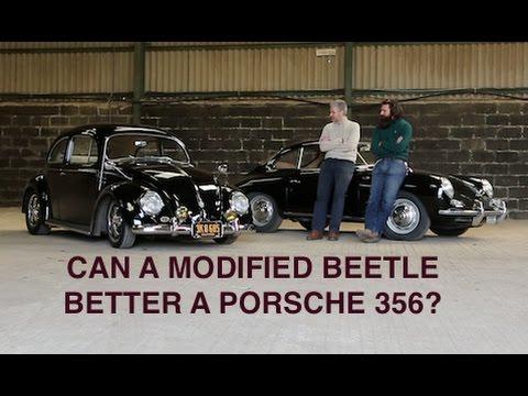 Modified VW Type 1 Beetle Vs Porsche 356 on the road!
