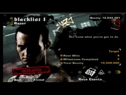 Need for Speed: Most Wanted (2005) on PS3 Razor Blacklist ...