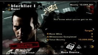 Need for Speed: Most Wanted (2005) on PS3 Razor Blacklist #1 Defeated