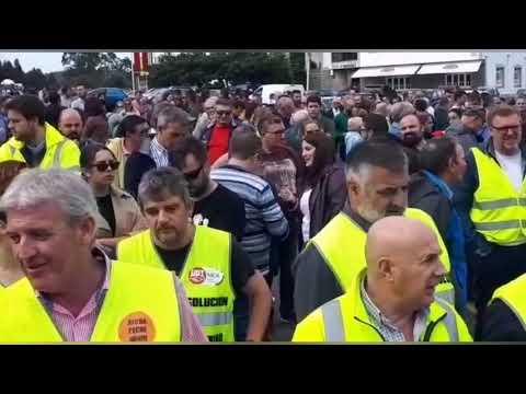 Nueva protesta ante Alcoa: concentración y corte de carretera