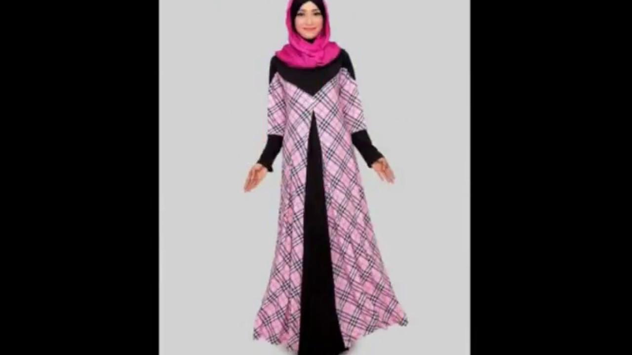 Update Model Baju Gamis Sifon Terbaru Motif Kembang Dan Polos
