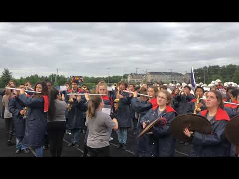 BWHS Falcon Regiment Performs Briar Woods Fight Song - 9/14/2018