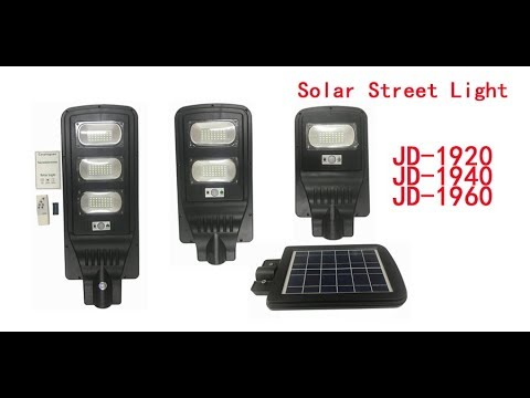 JD-1920 JD-1930 JD-1940 Remote Control All in One Solar Street Light