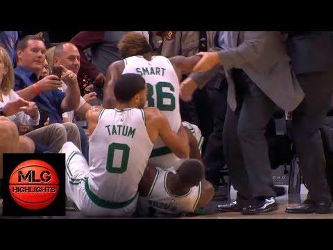JR Smith & Marcus Smart EPIC Scuffle | Celtics vs Cavaliers | 10.06.18