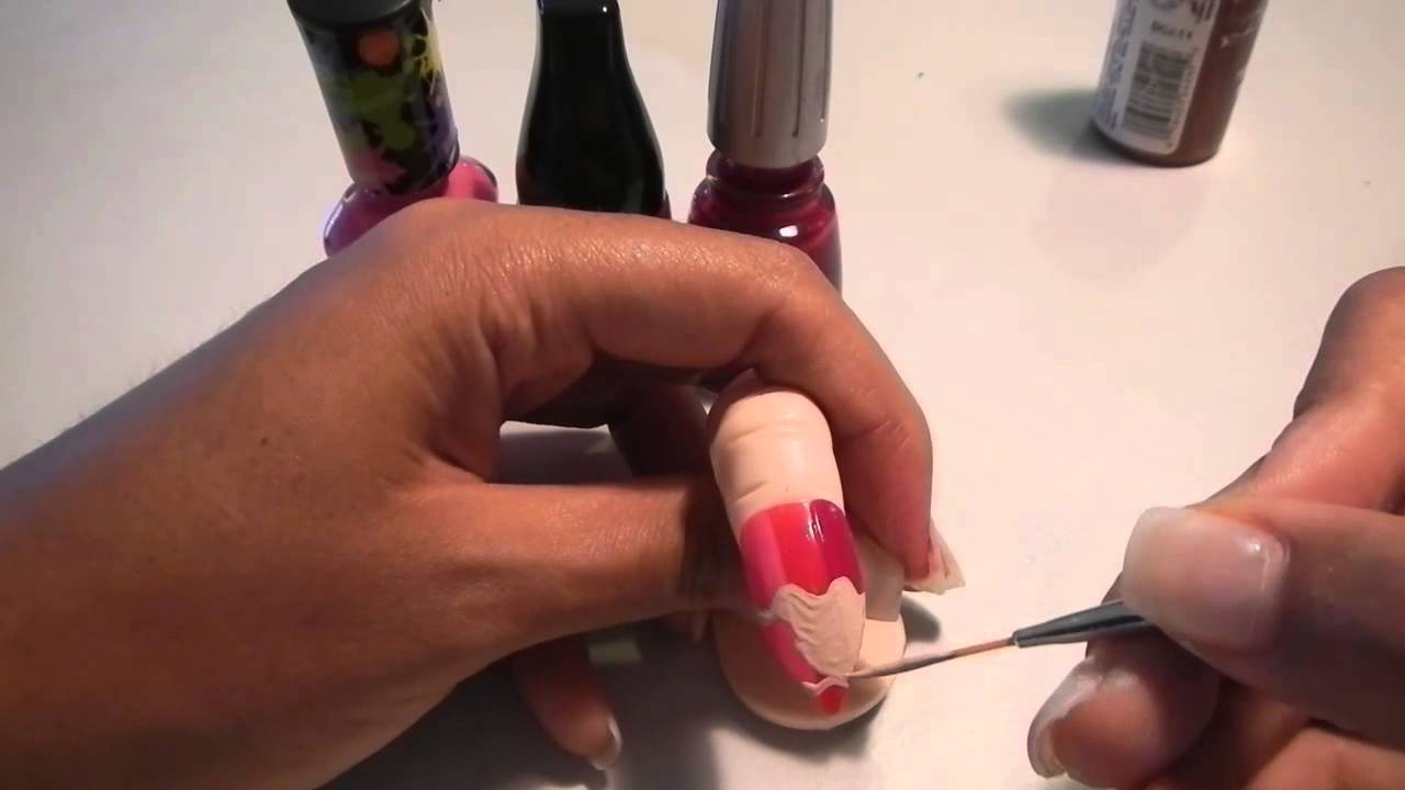 Cats Claws Pencil Nail Design For Stilettos Tutorial