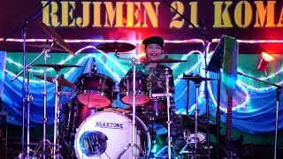 CALL OF DUTY - Avenged Sevenfold CARRY ON live Drum Cover at Commando Camp Sg Udang Melaka
