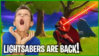 THEY RE ADDED LIGHTSABERS AND THEY ARE EPIC!