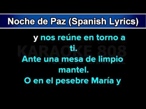 Noche de Paz Silent Night ~ Holiday Spanish Lyrics Karaoke Version ~ Karaoke 808