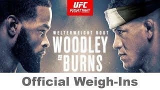 UFC on ESPN 9 Official Weigh-Ins: Tyron Woodley vs Gilbert Burns  | LIVE MyTub.uz