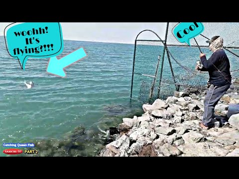 How To Catch Queen Fish | Part 2  Cooking Time | Fishing Vlog #9 | Tagalog