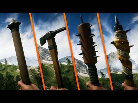 ALL 16 MAIN MELEE WEAPONS! - Battlefield 1
