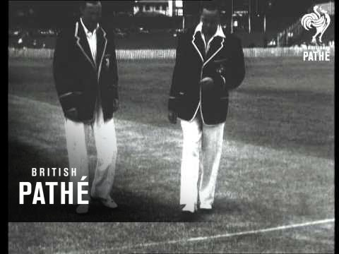 Brisbane - First Test Report AKA Australia Wins The First Test Match Cuts (1954)