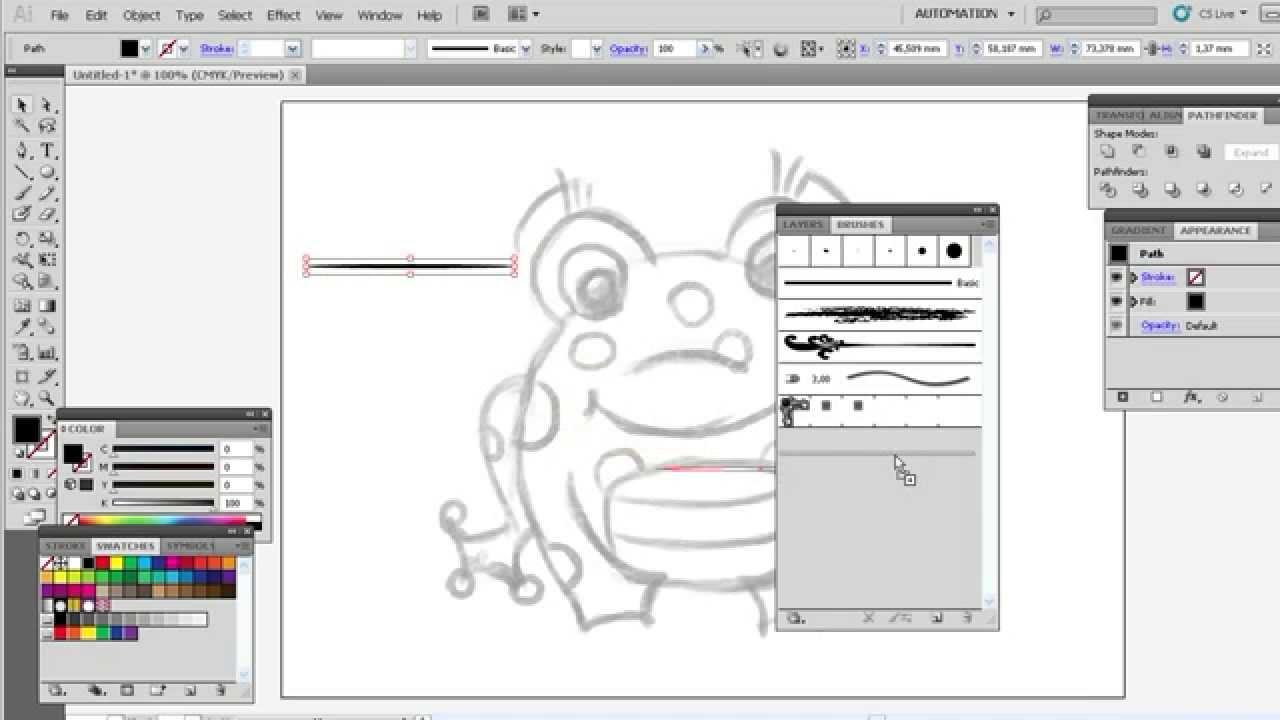 Как нарисовать картинку в иллюстраторе пошагово
