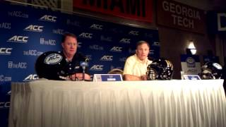 Coach Dave Clawson of Wake Forest Demon Deacons (Video by Dan Tortora)