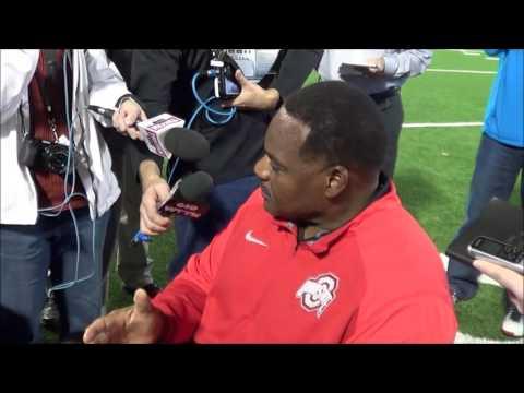 Ohio State defensive line coach Larry Johnson 10/24/16 - ELEVENWARRIORS.COM