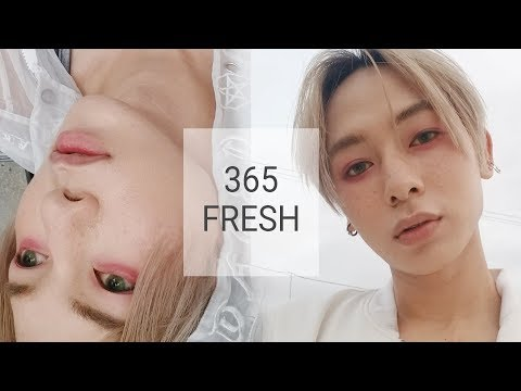 using all Korean Makeup to recreate E'DAWN 365 FRESH look + talking deathnote + living +  vlog