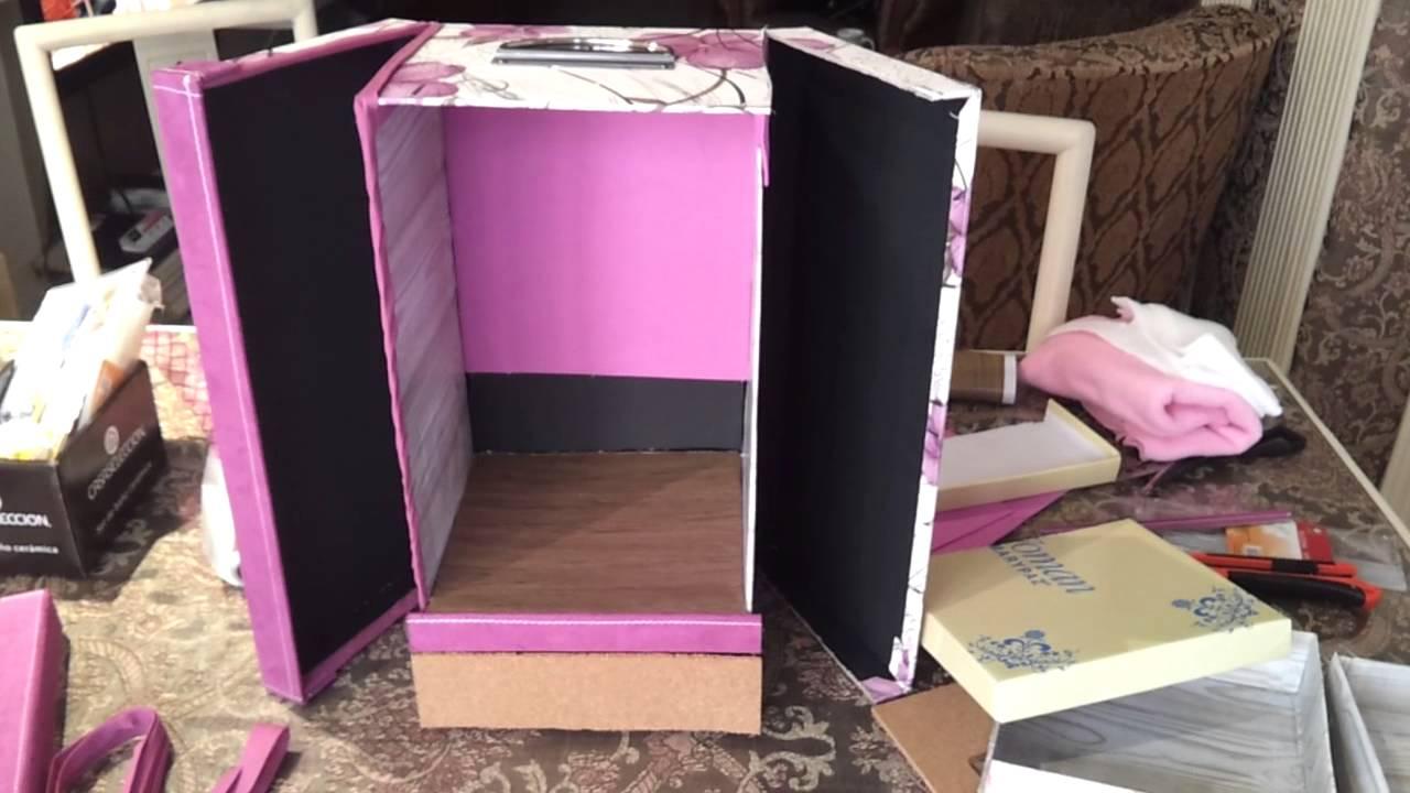 Manualidades caja organizadora tipo joyero youtube - Manualidades con cajas de zapatos ...
