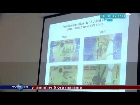Nouveaux Billets Malagasy - Billet de 20.000 et 10.000 Ariary