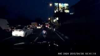 """Motorcycle Road Rage - """"Pulis"""" daw sya. LOL"""
