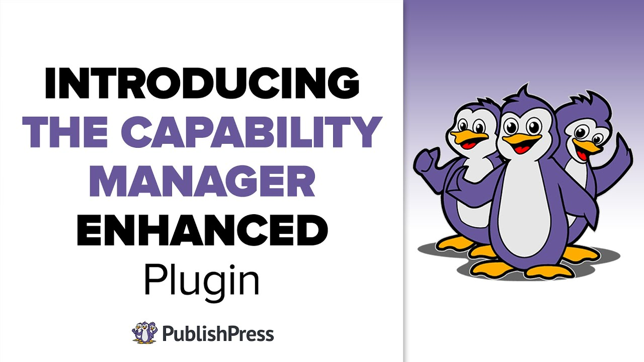 Introducing the Capability Manager Enhanced Plugin for WordPress