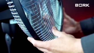 BORK P501 відео інструкція по збірці підлогового вентилятора Борк