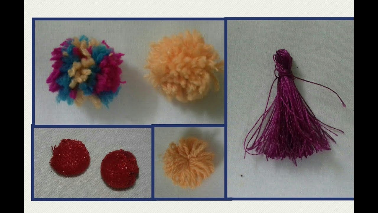 How To Make Pom Poms With Yarn And Tessal With Silk Thread Ss Art