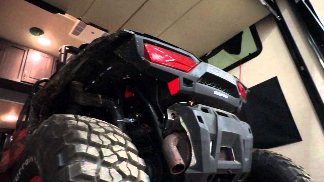 Loading A Rzr Xp 1000 In Weekend Warrior 4100w Toy Hauler 5th Wheel