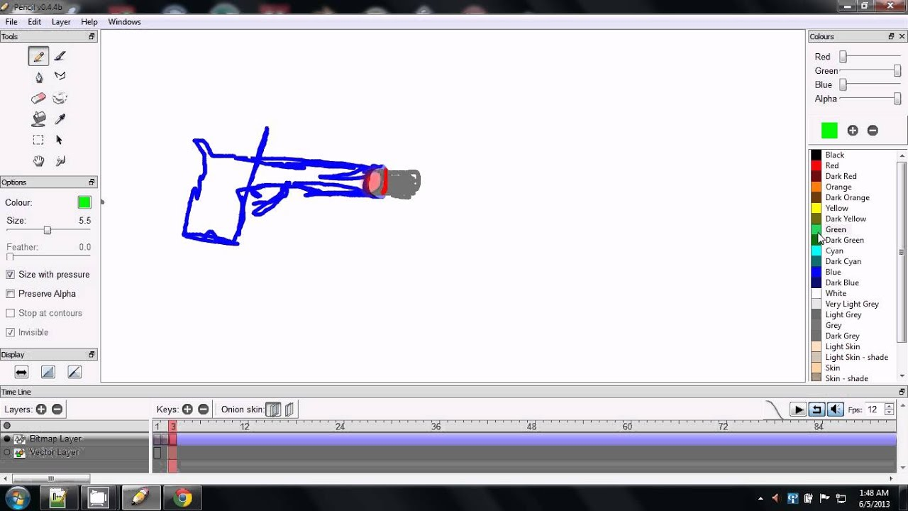 Pencil 2d animation tutorial 3: Frames per second, glitches, and ...