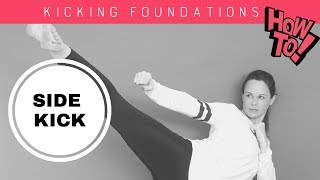 How to do a tae kwon do  side kick  | With CHLOE BRUCE