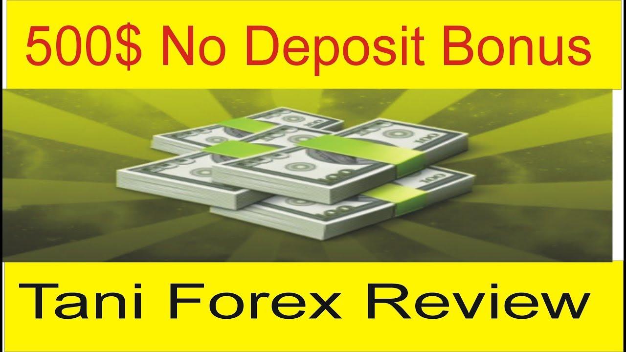 No deposit bonus forex 500