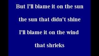 Stevie Wonder - Blame It On The Sun - Karaoke