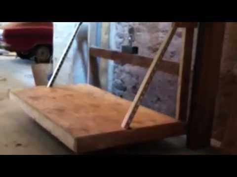 Garage attic elevator youtube for Diy home elevator plans