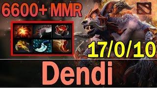 Dota 2 - Dendi Plays Ursa Warrior 6600+ MMR | Ranked Match