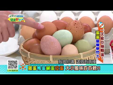 20180801  健康好生活   一天能吃幾顆蛋?  蛋蛋營養學問大