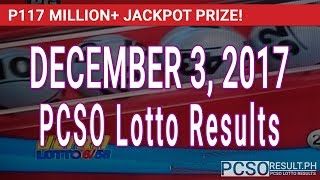 PCSO Lotto Results Today December 3, 2017 (6/58, 6/49, Swertres & EZ2)