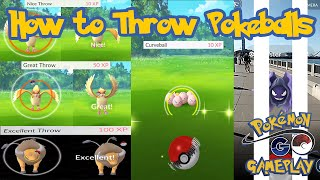 How to throw pokeballs properly in Pokemon Go